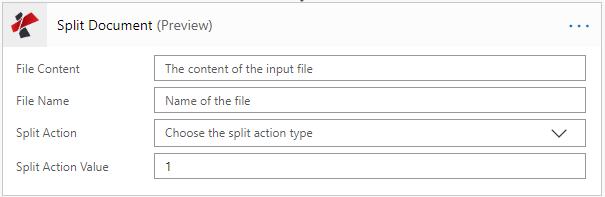MsFlow Split Action